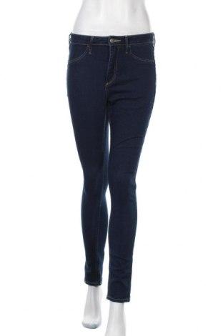 Дамски дънки H&M, Размер S, Цвят Син, 70% памук, 18% полиестер, 11% вискоза, 1% еластан, Цена 11,81лв.