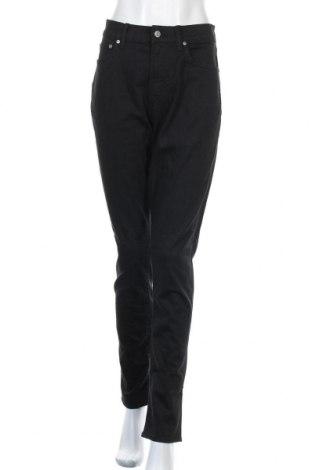 Дамски дънки H&M, Размер XL, Цвят Черен, 81% памук, 18% полиестер, 1% еластан, Цена 22,68лв.