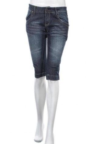 Γυναικείο κοντό παντελόνι Hydee by Chicoree, Μέγεθος M, Χρώμα Μπλέ, 81% βαμβάκι, 18% λινό, 1% ελαστάνη, Τιμή 7,40€