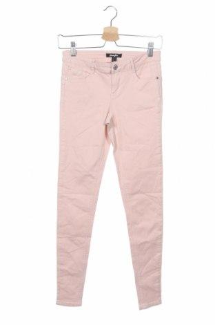 Дамски дънки Jennyfer, Размер XS, Цвят Розов, 63% памук, 35% модал, 2% еластан, Цена 12,76лв.