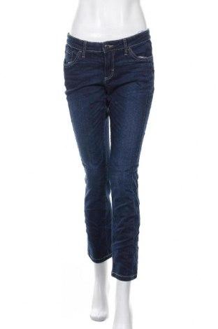 Дамски дънки John Baner, Размер M, Цвят Син, 76% памук, 16% полиестер, 7% вискоза, 1% еластан, Цена 14,33лв.