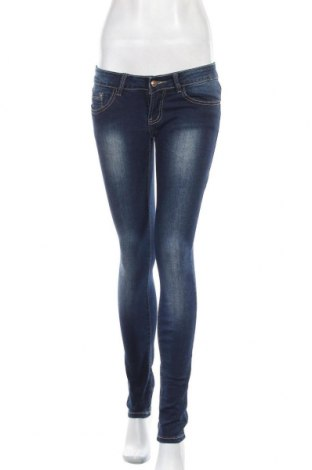Дамски дънки Miss Cherry, Размер S, Цвят Син, 95% памук, 5% еластан, Цена 22,31лв.