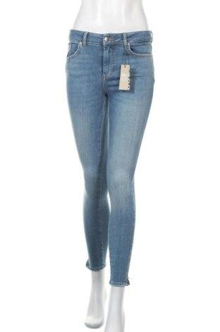 Дамски дънки Pieces, Размер S, Цвят Син, 85% памук, 13% полиестер, 2% еластан, Цена 48,30лв.