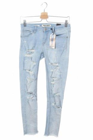 Дамски дънки Tally Weijl, Размер S, Цвят Син, 98% памук, 2% еластан, Цена 23,10лв.
