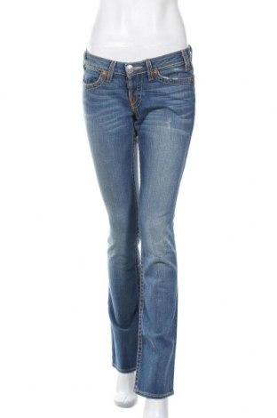 Дамски дънки True Religion, Размер M, Цвят Син, 99% памук, 1% еластан, Цена 32,20лв.