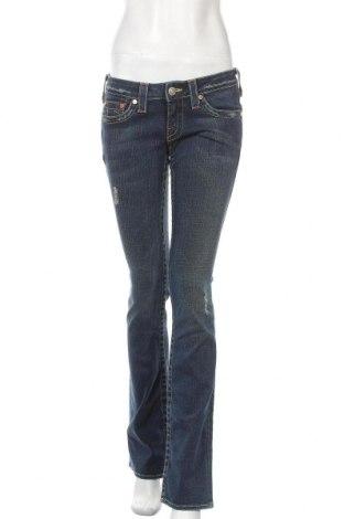 Дамски дънки True Religion, Размер M, Цвят Син, 99% памук, 1% еластан, Цена 28,98лв.