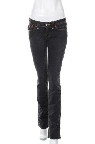 Дамски дънки True Religion, Размер M, Цвят Сив, 99% памук, 1% еластан, Цена 32,20лв.