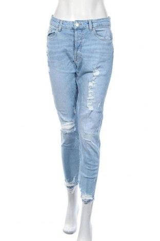 Blugi de femei Zara, Mărime L, Culoare Albastru, Preț 107,10 Lei