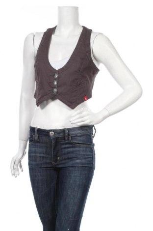 Дамски елек Edc By Esprit, Размер M, Цвят Сив, 98% памук, 2% еластан, Цена 5,59лв.