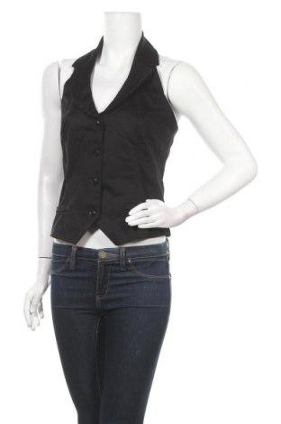 Дамски елек Pimkie, Размер M, Цвят Черен, 97% памук, 3% еластан, Цена 7,61лв.