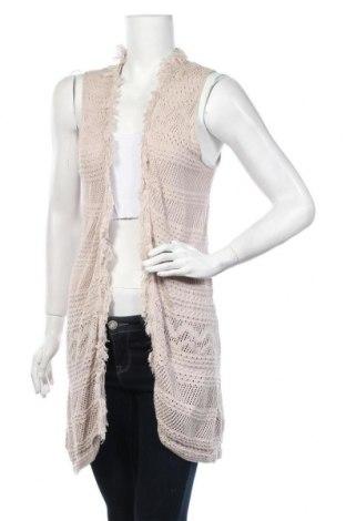 Дамски елек Tom Tailor, Размер L, Цвят Бежов, 53% памук, 47% вискоза, Цена 15,87лв.