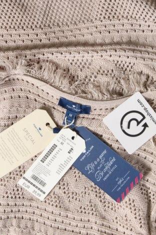 Дамски елек Tom Tailor, Размер M, Цвят Бежов, 53% памук, 47% вискоза, Цена 15,87лв.