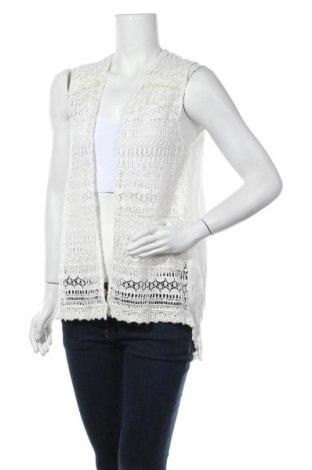 Дамски елек Zara Trafaluc, Размер M, Цвят Екрю, Вискоза, Цена 7,35лв.