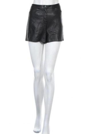 Дамски къс кожен панталон Etam, Размер M, Цвят Черен, Еко кожа, Цена 18,74лв.