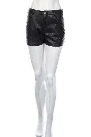 Дамски къс панталон Ax Paris, Размер M, Цвят Черен, Еко кожа, Цена 21,00лв.