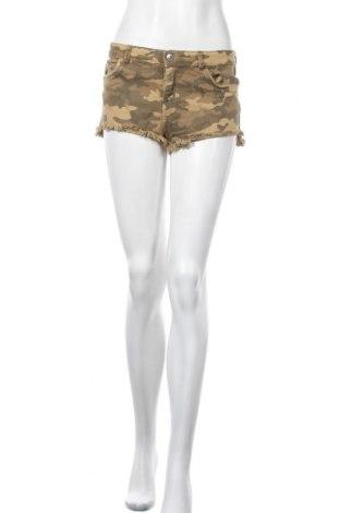 Γυναικείο κοντό παντελόνι Bershka, Μέγεθος S, Χρώμα  Μπέζ, Τιμή 11,95€