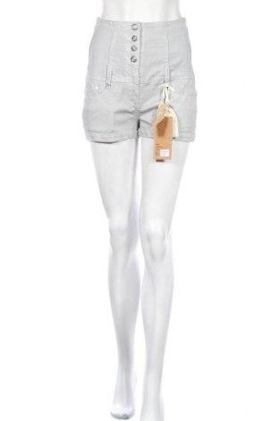 Дамски къс панталон Blue Rags, Размер S, Цвят Сив, 98% памук, 2% еластан, Цена 6,30лв.
