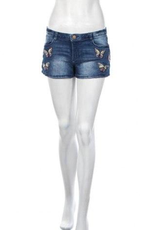Γυναικείο κοντό παντελόνι Clockhouse, Μέγεθος M, Χρώμα Μπλέ, 99% βαμβάκι, 1% ελαστάνη, Τιμή 5,46€
