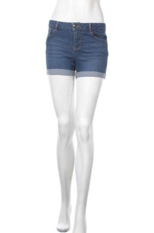 Дамски къс панталон Denim&Co., Размер S, Цвят Син, 71% памук, 27% полиестер, 2% еластан, Цена 15,96лв.