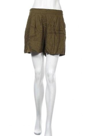 Γυναικείο κοντό παντελόνι H&M, Μέγεθος L, Χρώμα Πράσινο, Βισκόζη, Τιμή 9,87€