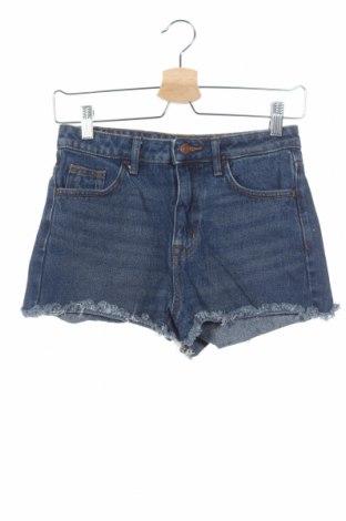 Дамски къс панталон H&M, Размер XS, Цвят Син, Памук, Цена 7,98лв.