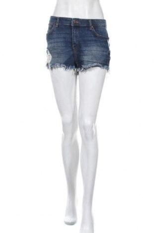 Γυναικείο κοντό παντελόνι H&M, Μέγεθος L, Χρώμα Μπλέ, 98% βαμβάκι, 2% ελαστάνη, Τιμή 8,83€