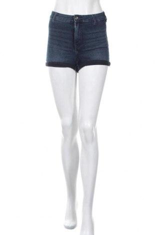 Γυναικείο κοντό παντελόνι H&M, Μέγεθος S, Χρώμα Μπλέ, 82% βαμβάκι, 17% πολυεστέρας, 1% ελαστάνη, Τιμή 11,26€