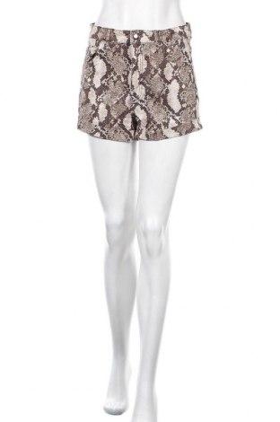 Γυναικείο κοντό παντελόνι H&M, Μέγεθος M, Χρώμα  Μπέζ, 87% βαμβάκι, 10% πολυεστέρας, 3% ελαστάνη, Τιμή 15,20€