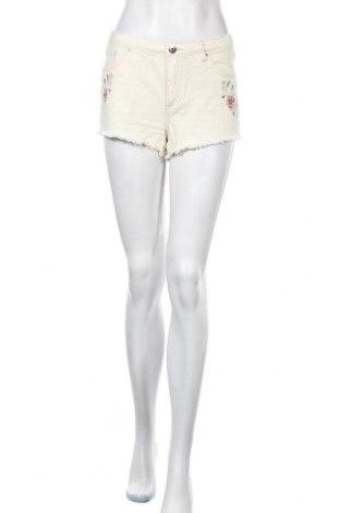 Γυναικείο κοντό παντελόνι H&M Divided, Μέγεθος S, Χρώμα Εκρού, Βαμβάκι, Τιμή 3,41€
