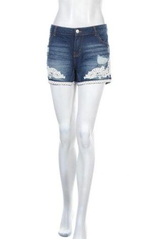 Γυναικείο κοντό παντελόνι Janina, Μέγεθος M, Χρώμα Μπλέ, Βαμβάκι, Τιμή 7,31€