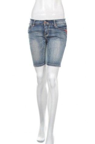 Γυναικείο κοντό παντελόνι M.Sara, Μέγεθος M, Χρώμα Μπλέ, 72% βαμβάκι, 24% πολυεστέρας, 3% βισκόζη, 1% ελαστάνη, Τιμή 8,83€