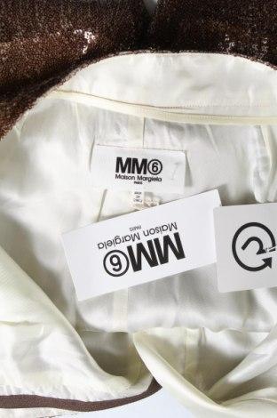 Γυναικείο κοντό παντελόνι MM6 Maison Martin Margiela, Μέγεθος S, Χρώμα Καφέ, Πολυεστέρας, Τιμή 103,68€