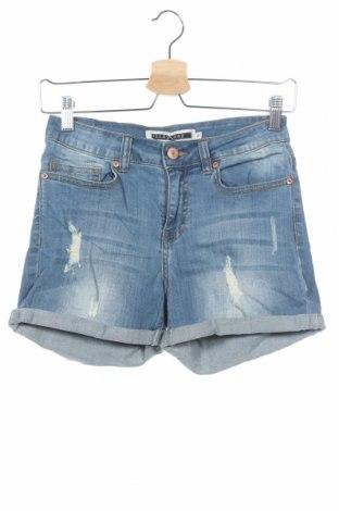 Γυναικείο κοντό παντελόνι Noisy May, Μέγεθος XS, Χρώμα Μπλέ, 98% βαμβάκι, 2% ελαστάνη, Τιμή 5,26€