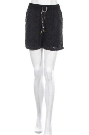 Γυναικείο κοντό παντελόνι Numph, Μέγεθος S, Χρώμα Μαύρο, 75% βαμβάκι, 25% πολυεστέρας, Τιμή 19,74€