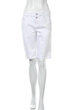 Γυναικείο κοντό παντελόνι S.Oliver, Μέγεθος M, Χρώμα Λευκό, 50% βαμβάκι, 40% βισκόζη, 8% πολυεστέρας, 2% ελαστάνη, Τιμή 22,20€