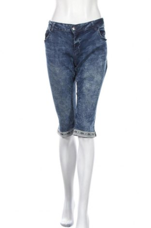 Γυναικείο κοντό παντελόνι Up 2 Fashion, Μέγεθος L, Χρώμα Μπλέ, 98% βαμβάκι, 2% ελαστάνη, Τιμή 11,69€