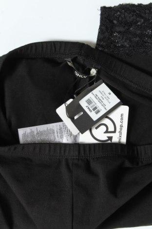Дамски клин ONLY, Размер M, Цвят Черен, 95% памук, 5% еластан, Цена 17,55лв.