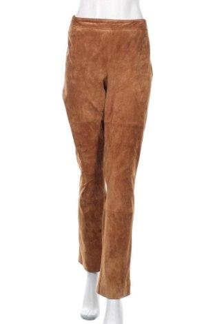 Дамски кожен панталон Apart, Размер XL, Цвят Кафяв, Естествен велур, Цена 60,06лв.
