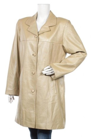 Γυναικεία δερμάτινη καμπαρντίνα, Μέγεθος L, Χρώμα  Μπέζ, Γνήσιο δέρμα, Τιμή 48,06€