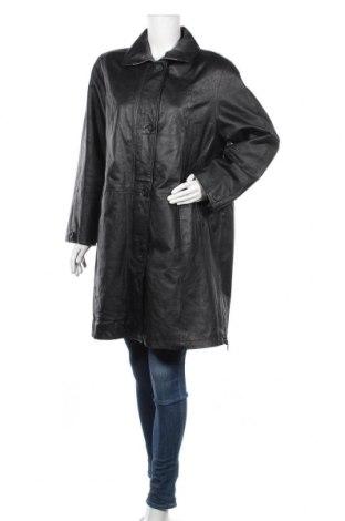 Дамски кожен шлифер, Размер L, Цвят Черен, Естествена кожа, Цена 19,43лв.