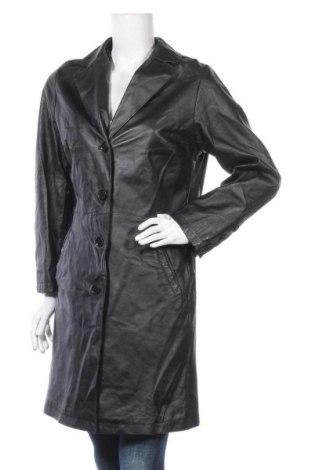 Дамско кожено яке, Размер L, Цвят Черен, Естествена кожа, Цена 22,05лв.