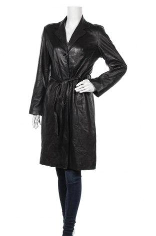 Γυναικεία δερμάτινη καμπαρντίνα, Μέγεθος M, Χρώμα Μαύρο, Γνήσιο δέρμα, Τιμή 89,63€