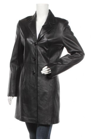 Дамски кожен шлифер, Размер XL, Цвят Черен, Естествена кожа, Цена 42,84лв.