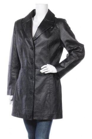 Δερμάτινο γυναικείο παλτό 5th Avenue, Μέγεθος L, Χρώμα Μαύρο, Γνήσιο δέρμα, Τιμή 46,01€
