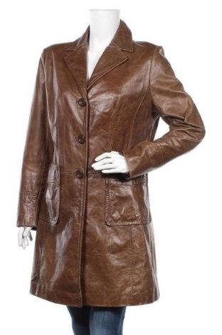 Дамски кожен шлифер Jake*s, Размер L, Цвят Кафяв, Естествена кожа, Цена 92,40лв.