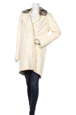 Γυναικεία δερμάτινη καμπαρντίνα Punto, Μέγεθος XL, Χρώμα Λευκό, Γνήσιο δέρμα, Τιμή 46,01€