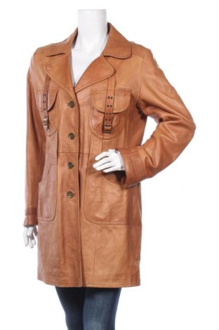 Γυναικεία δερμάτινη καμπαρντίνα Verve, Μέγεθος XL, Χρώμα Καφέ, Γνήσιο δέρμα, Τιμή 30,46€