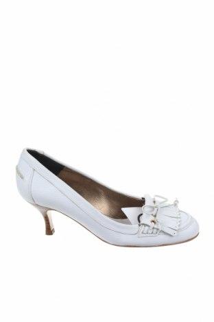 Дамски обувки Zara, Размер 38, Цвят Бял, Естествена кожа, Цена 35,96лв.