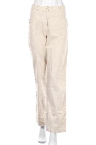 Dámské kalhoty  Bexleys, Velikost M, Barva Béžová, 55% len, 45% viskóza, Cena  352,00Kč