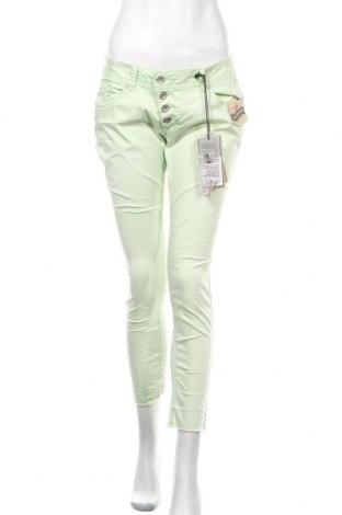 Дамски панталон Buena Vista, Размер M, Цвят Зелен, 98% памук, 2% еластан, Цена 27,65лв.